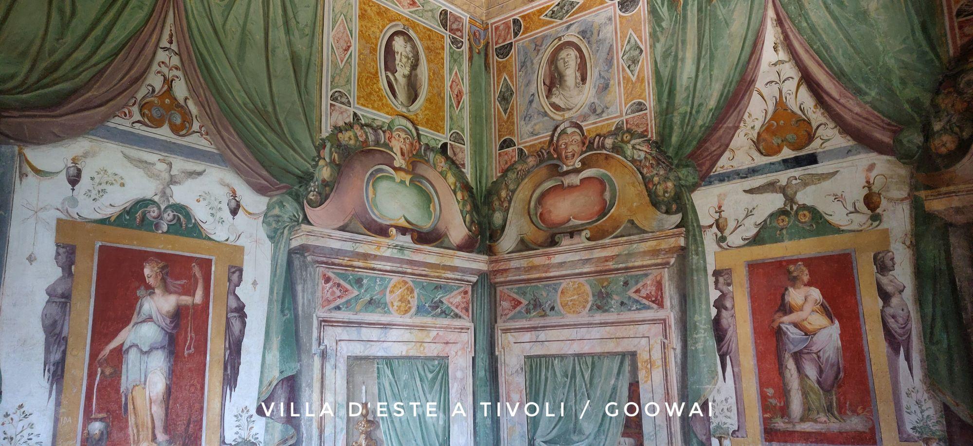 La casa di villa d'Este a Tivoli