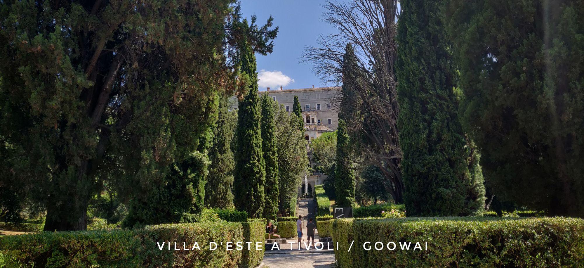La villa d'Este a Tivoli i giardini